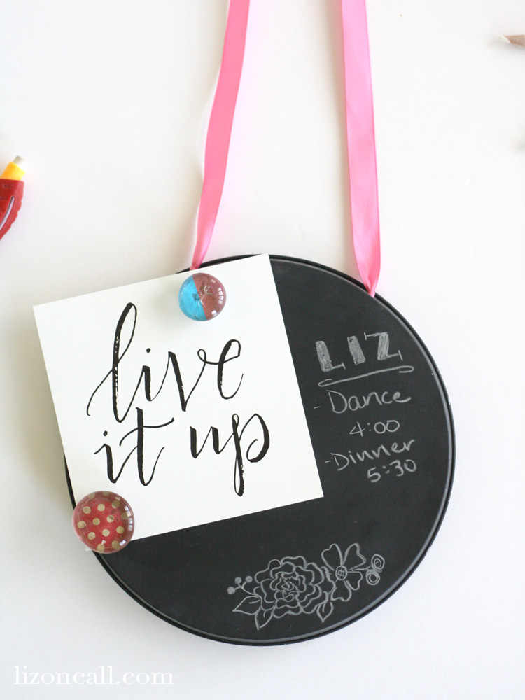 These DIY magnetic chalkboards are a fun and inexpensive craft for a group craft night or girls camp.