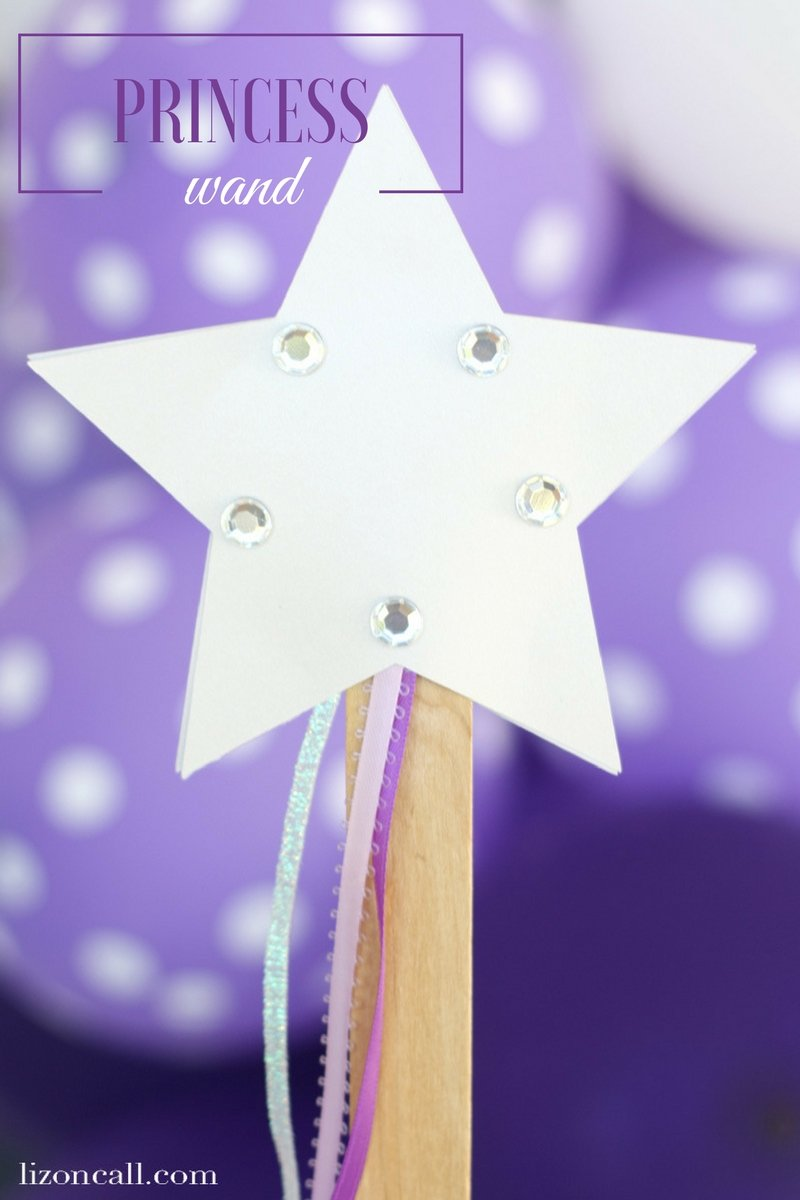 This easy magic wand craft is a fun activity for a princess party or just if the kids get bored this summer.