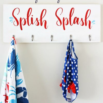 Make a DIY Towel Hook Board with Cricut Stencil Vinyl