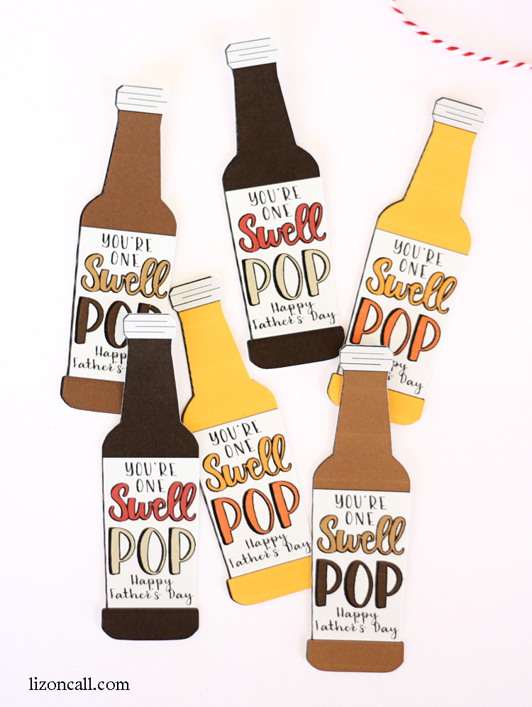Our swell pop loves this easy Father's Day gift idea. Especially because it involves his favorite soda! Download these free printables or a print and cut file.