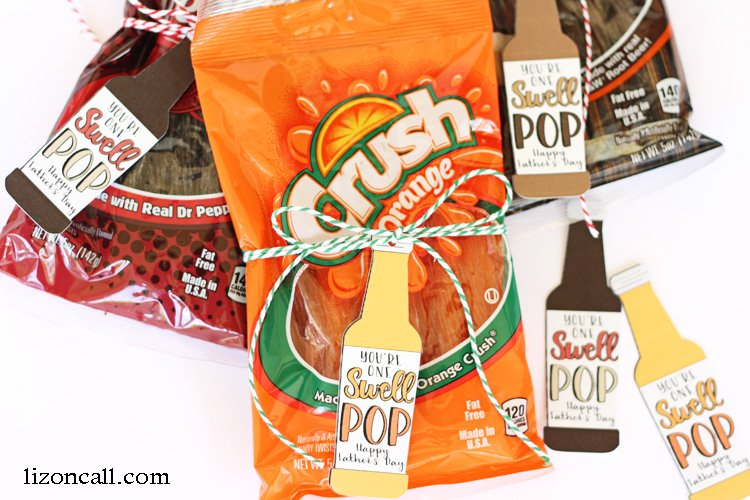 Our swell pop loves this easy Father's Day gift idea. Especially because it involves his favorite soda! Free printable tags or print and cut file.