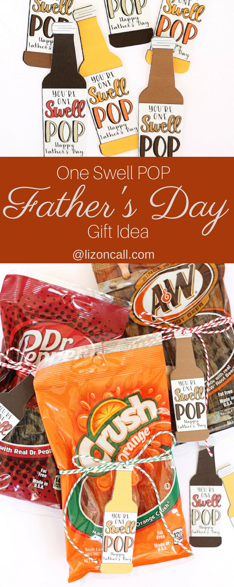 Our swell pop loves this easy Father's Day gift idea. Especially because it involves his favorite soda! Free printable or print and cut file.