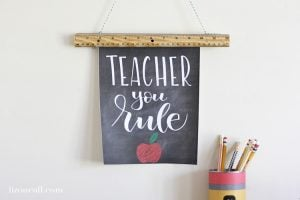 Teacher You Rule Teacher Gift Idea