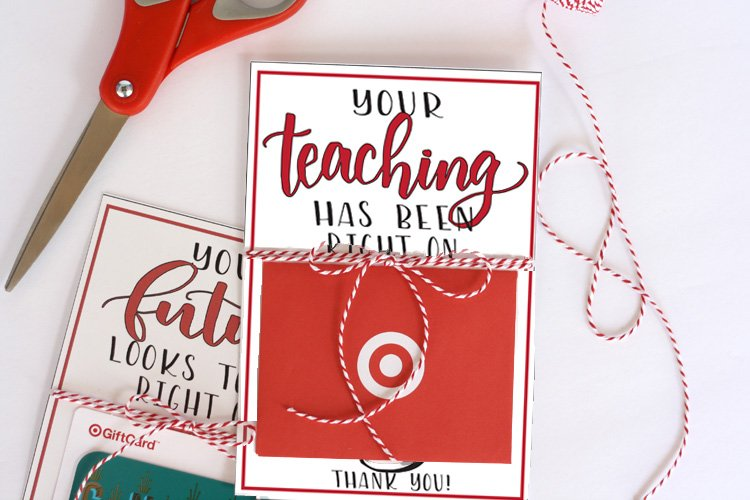 Teachers love handmade gifts from their students, but appreciate gift cards too. Give teachers a little something extra this year with this free teacher Target gift card printable. Teacher appreciation gift idea with free printable