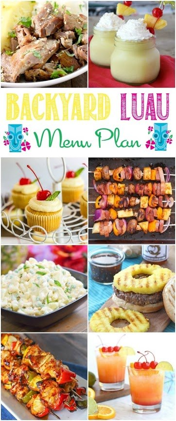 Hosting a luau in your backyard will be super fun and easy with this luau party menu plan.
