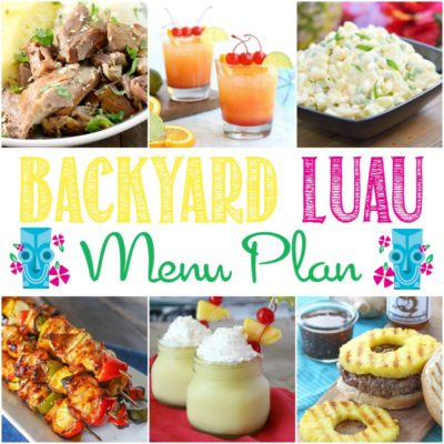 Luau Party Menu Plan
