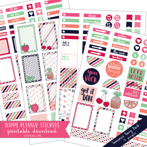 Downloadable Happy Planner Stickers available @lizoncall.com shop