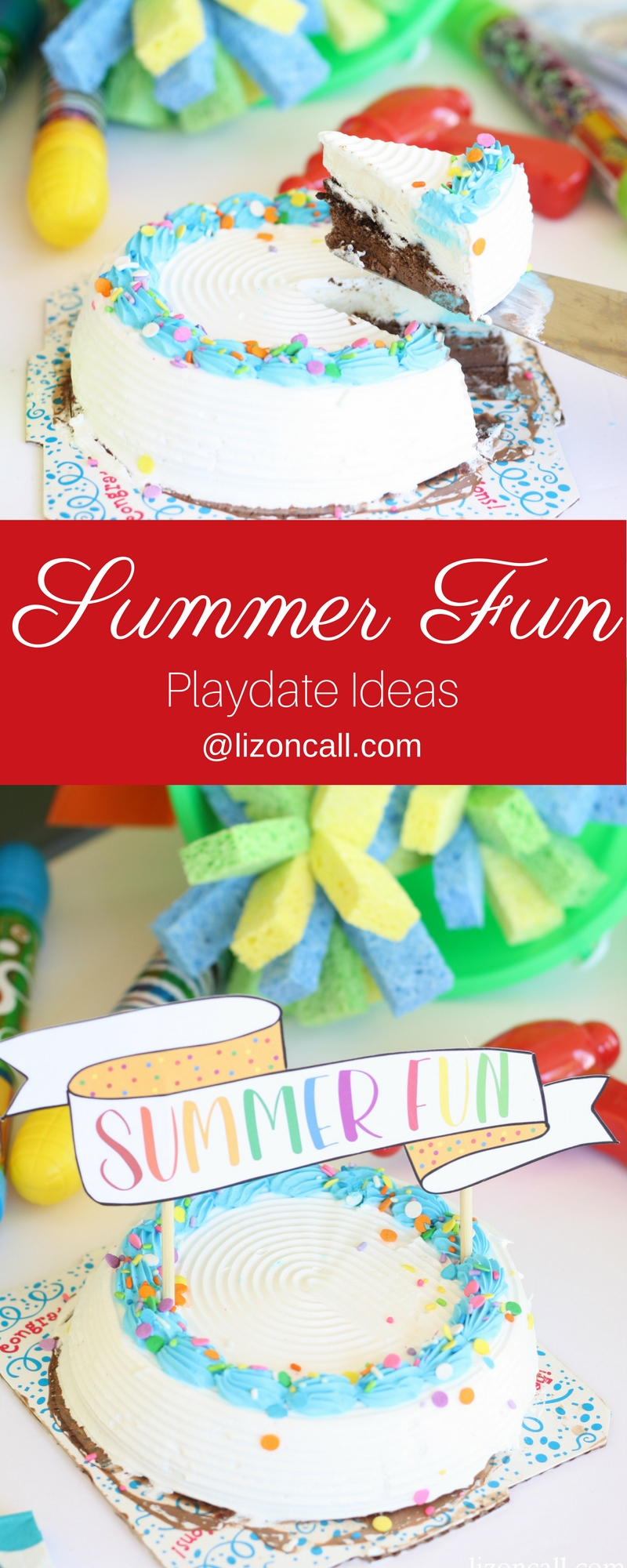 Kick those summertime blues out the window with these summer fun playdate ideas. Food and games that the kids are going to love!