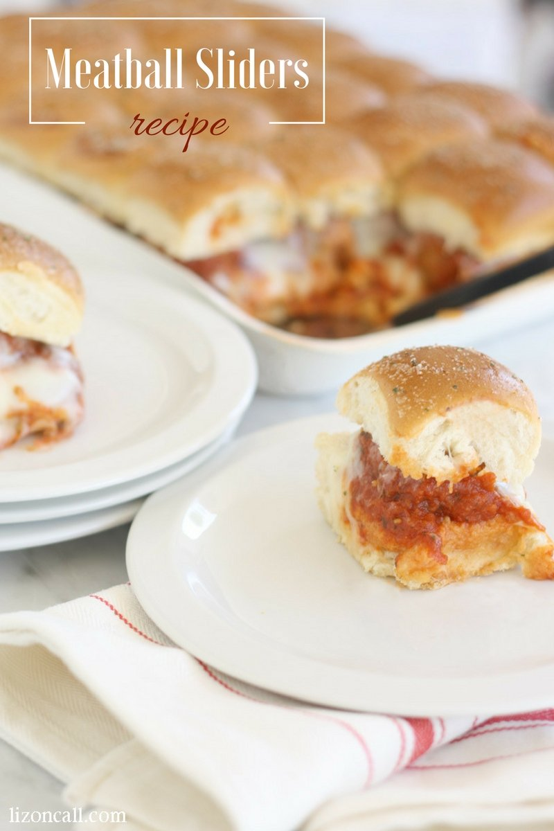 These meatball sliders make a great dish for a summer potluck or just a weeknight family meal.