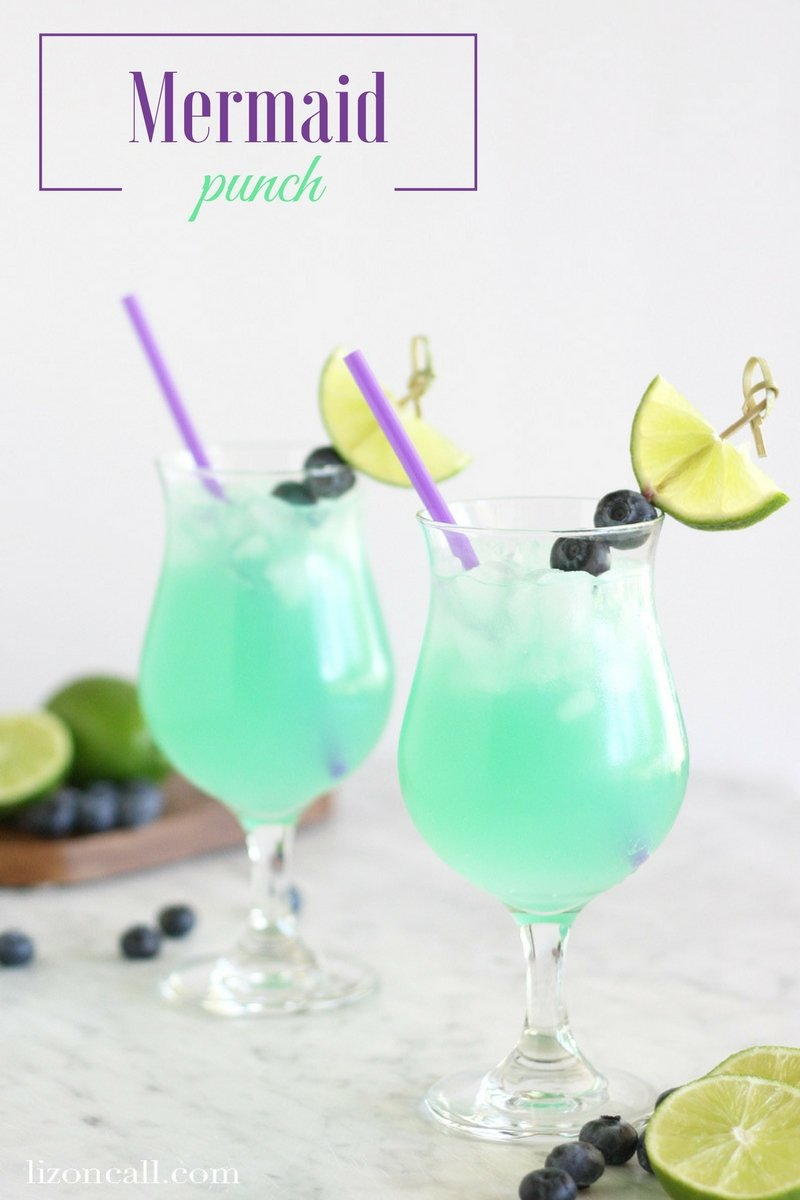 With just 4 ingredients, this mermaid party punch will be a fun addition to your mermaid party.