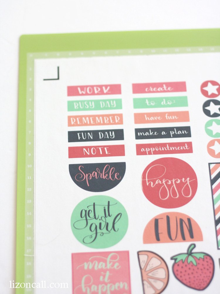 how to use cricut printable sticker paper