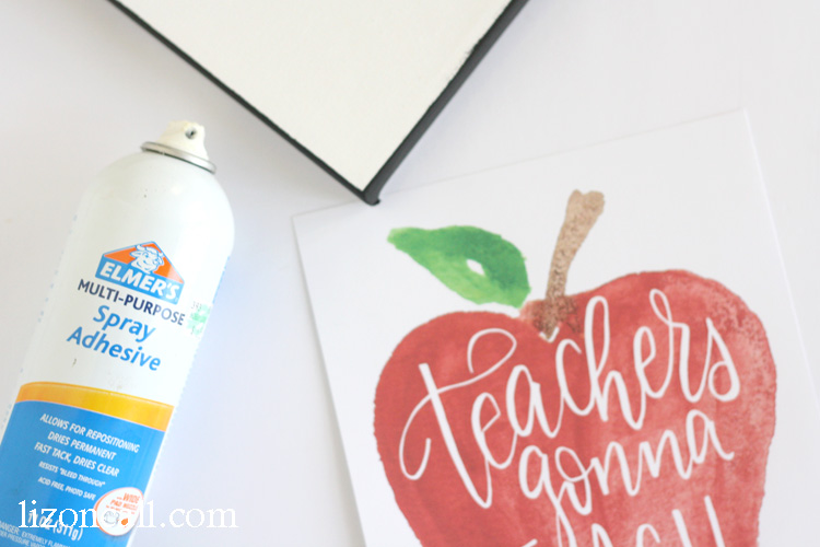 This sweet hand lettered and watercolored teachers gonna teach printable would make a great teacher gift.