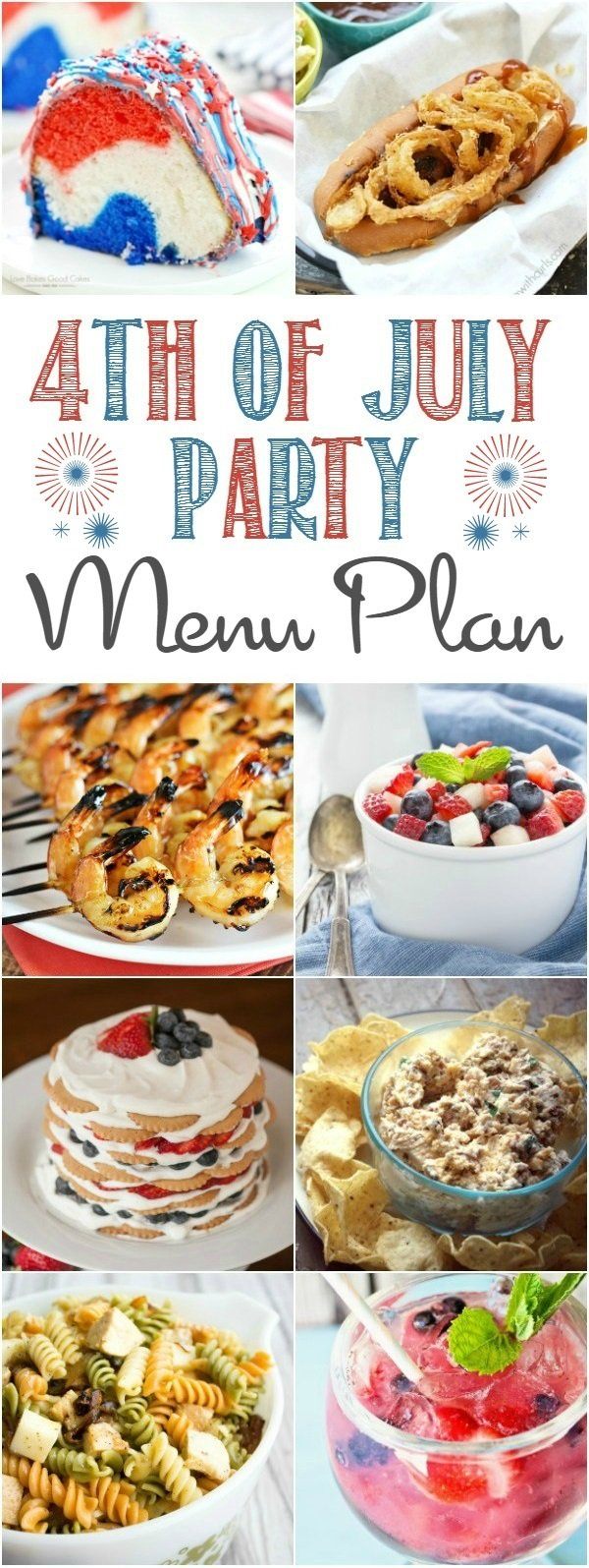 We're making planning a patriotic party is super easy with this 4th of July menu plan.