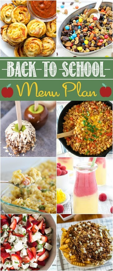 Now the kids are back in school, get back into a routine and make dinner easy with this back to school menu plan.