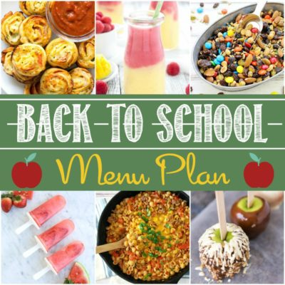 Back to School Menu Plan