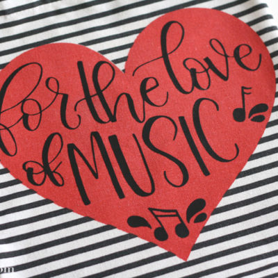 Hand Lettered Music Bag Cut File