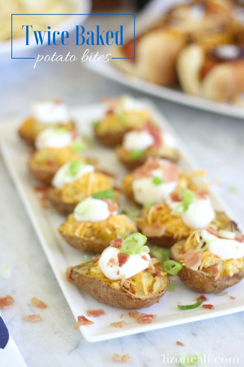 These twice baked potato bites are the perfect appetizer for any party.