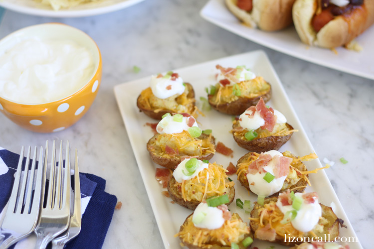 These twice baked potato bites are the perfect addition to any party. They are the perfect appetizer.