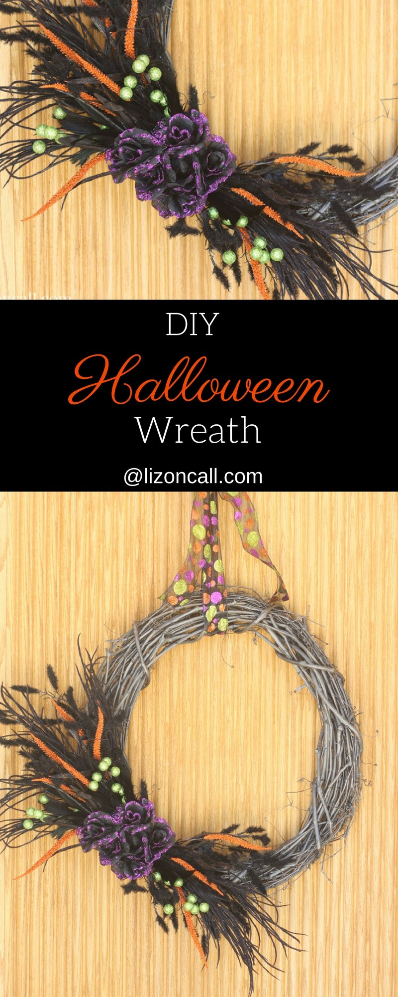 Whip up this DIY Halloween wreath in under 30 minutes for a quick decoration to add to your front door.
