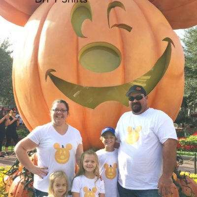 DIY Mickey Pumpkin Shirt