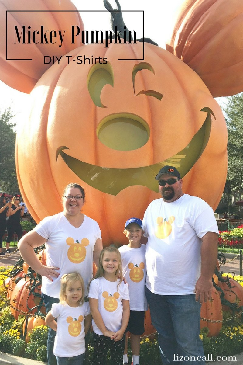 Celebrate Halloween Time at Disney with your own DIY Mickey Pumpkin Shirt. Get the free image download to make your own.