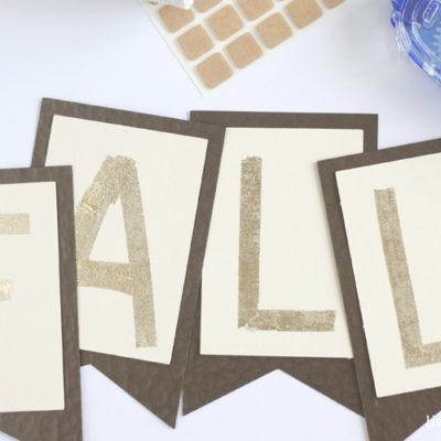 DIY Gold Foil Fall Banner
