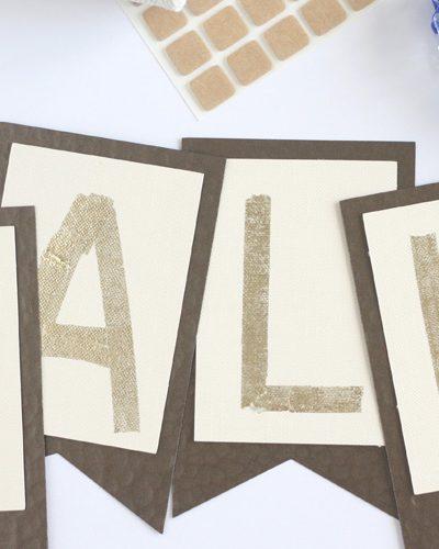 DIY Gold Foil Fall Banner