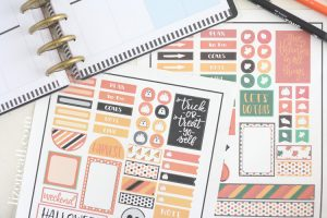 Free Happy Planner Stickers for Halloween and Fall