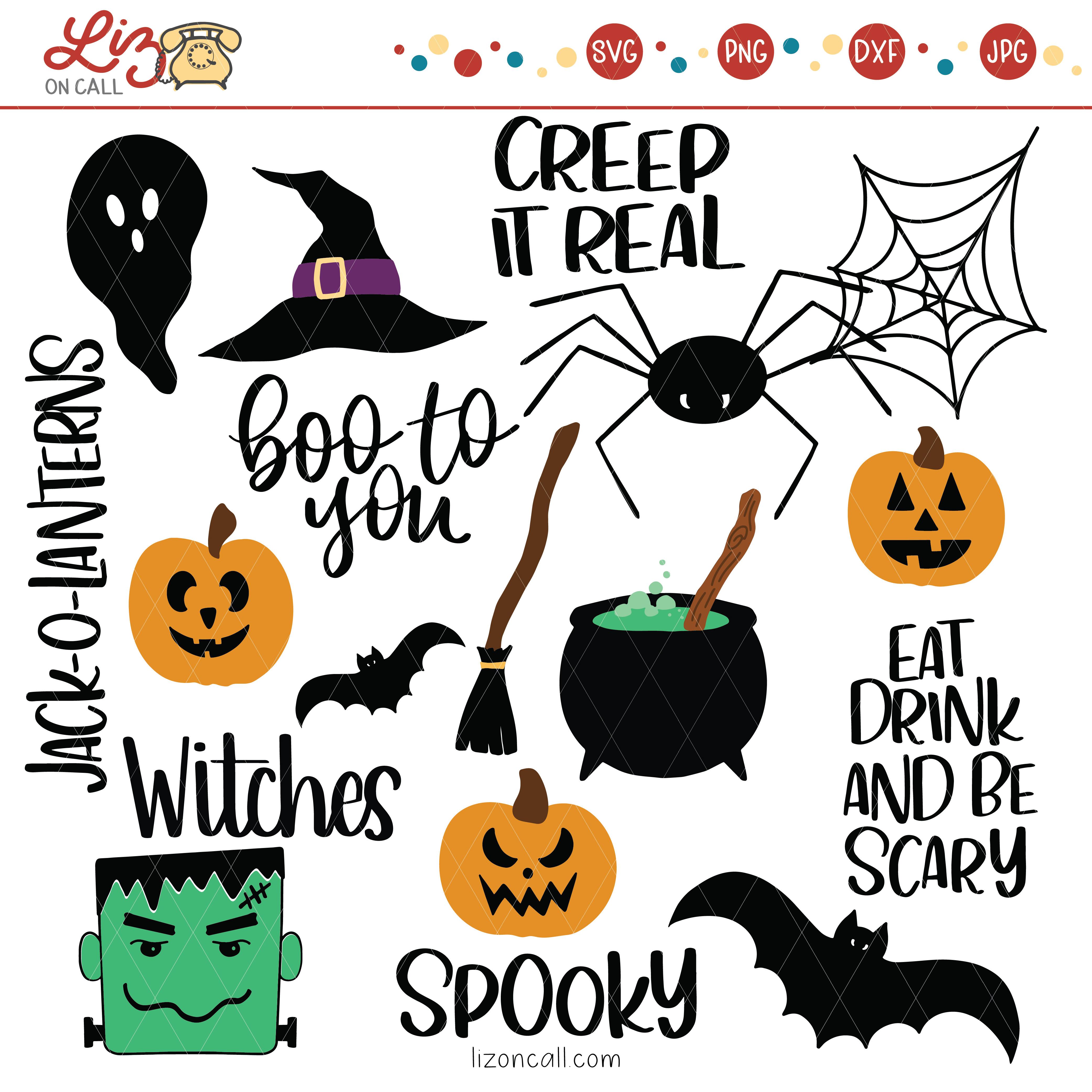 Halloween cut files from Liz on Call