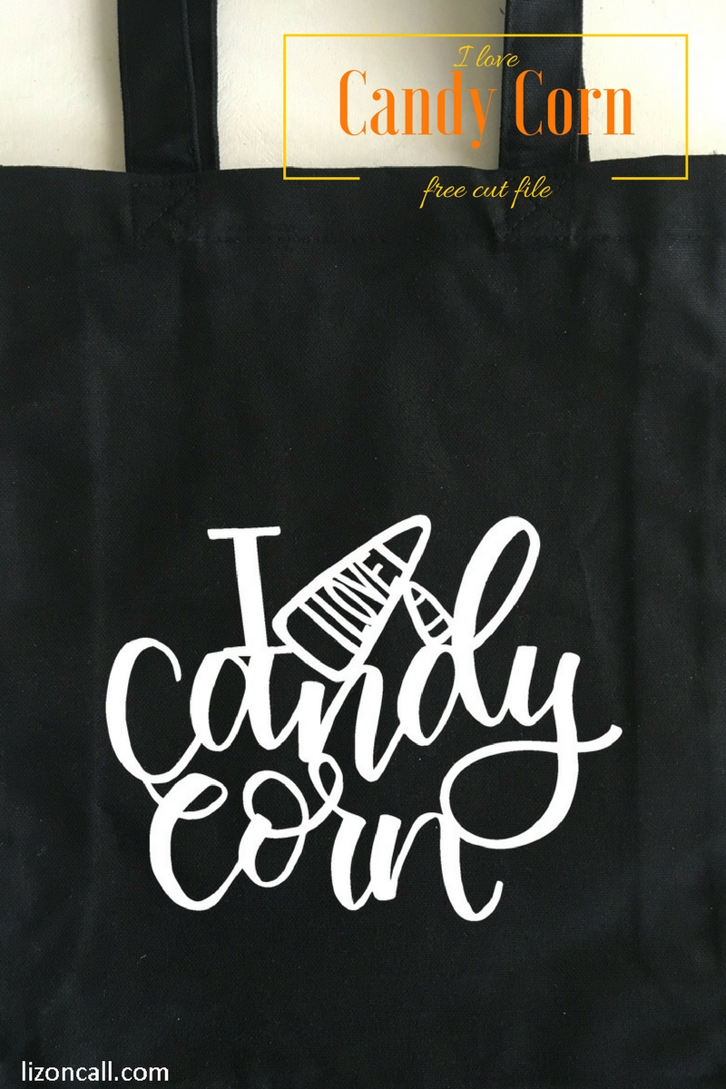 Show your love of candy corn by adding this I love candy corn Halloween cut file to shirts, mugs, notebooks and more.