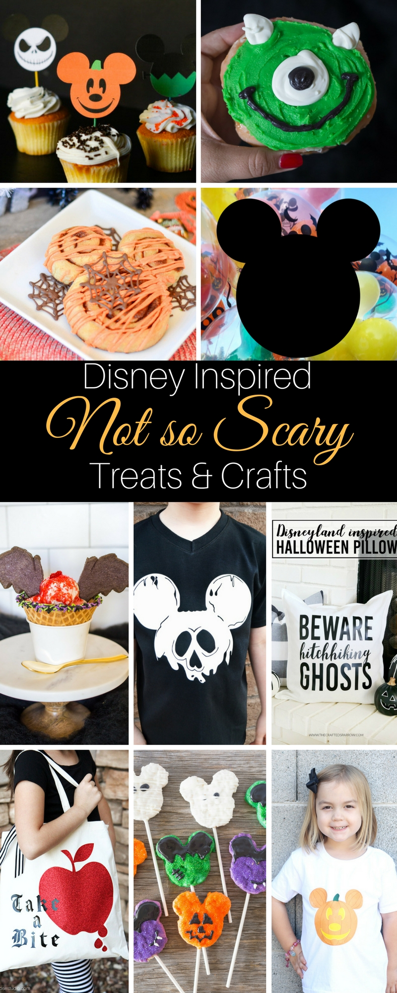 9 not so scary treats and crafts to make to celebrate Halloween Time at Disneyland.