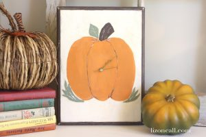 DIY Pumpkin Clock