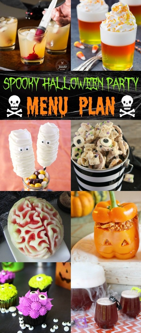 Feed all the ghouls and goblins that will haunt your Halloween party, with this spooky Halloween party menu plan.