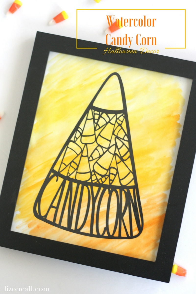 Add some colorful fun to your Halloween decor this year with this watercolored candy corn print.