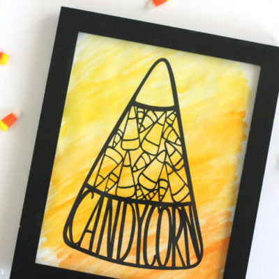 Watercolored Candy Corn Halloween Decor