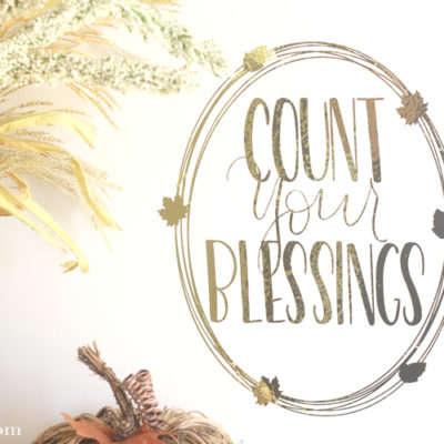 Count Your Blessings Wall Art Wreath