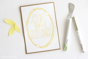 How to Use the Cricut Pen Tool