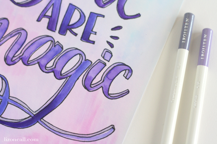 Using these tips, techniques and free printable hand lettered phrase page, you can create a DIY hand lettered banner perfect for your home.