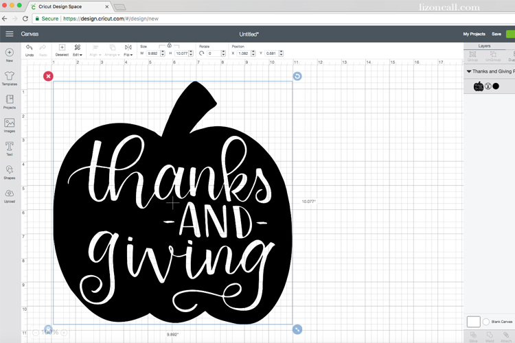 This hand lettered and hand drawn pumpkin cut file is great reminder to celebrate the fall season with both thanks and giving.