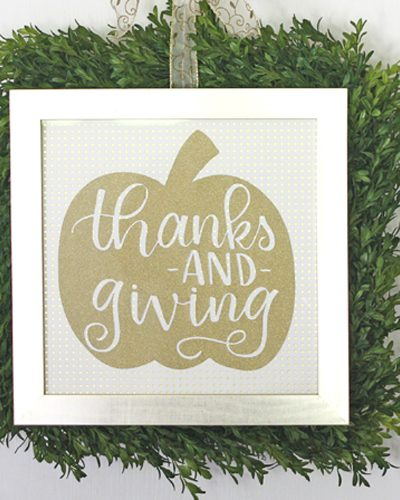 Thanks and Giving Pumpkin Cut File