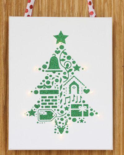 Christmas Canvas UnWreath Door Decor with Cricut