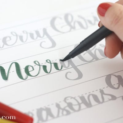 Christmas Hand Lettering Practice Sheets