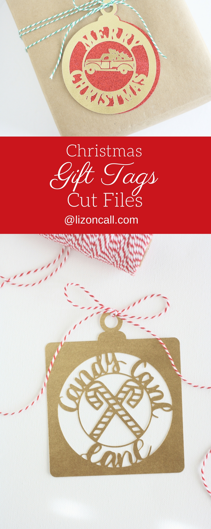 Christmas gift tags and cards svg cut files. Over 30 elements to create unique Christmas gift tags and cards for your friends and family.