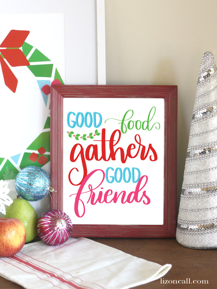 Whether you're hosting friends or family this year for the holidays, set your table with these bright and fun holiday tablescape printables.