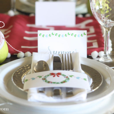Holiday Tablescape Printables