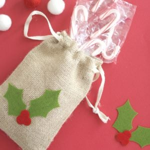 Christmas Party Favor Bags with Cricut Maker