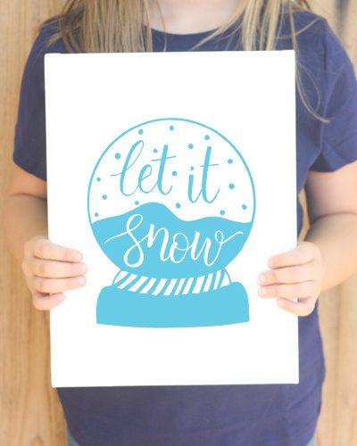 Let It Snow Globe Cut File