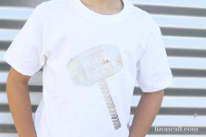 Drop The Hammer Cut File   DIY Thor Shirt