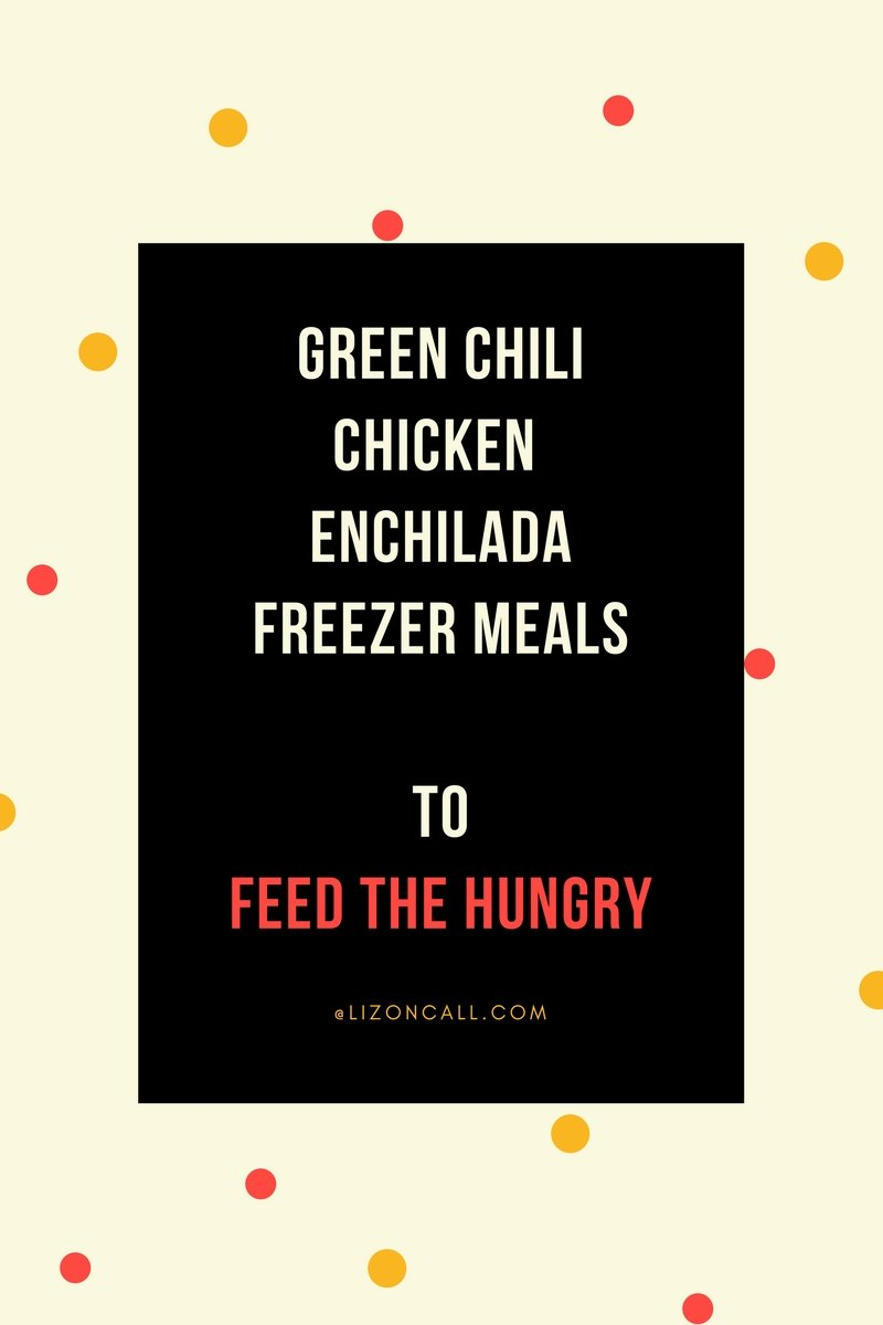 Whether you make 1 or 9, this green chili chicken enchilada casserole is one of the easiest freezer meals to put together. #freezermeal #lighttheworld #feedthehungry #greenchili #chickenenchilada