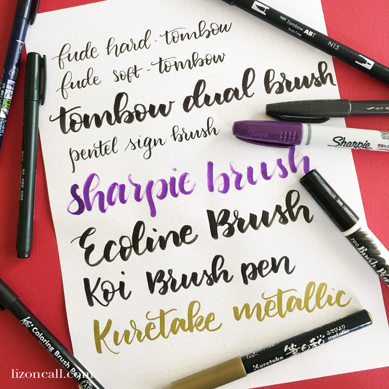 Whether you're buying for a beginner or someone a little more advanced, you'll find just what you need with this gift guide for the hand letterer. #giftguide #handlettering